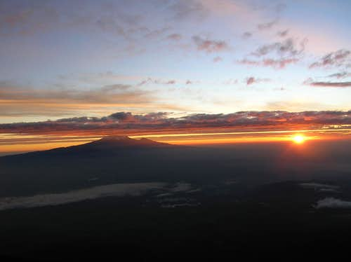 Sunrise view on Kilimanjaro