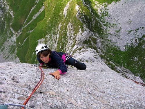 Climbing the North Pillar