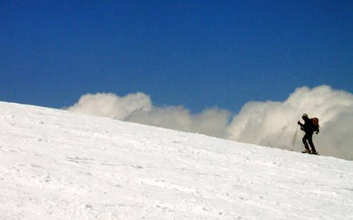 Skier ascending Cevedale