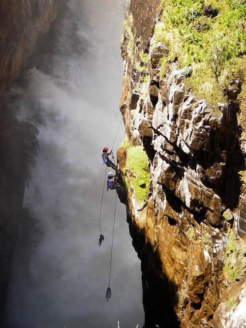 Sipia Falls Rappelling