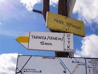 Tarnica - saddle - Trail Marker