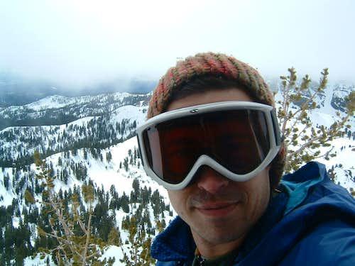 Self portrait on Diller summit ridge