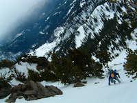 Chris nearing summit ridge