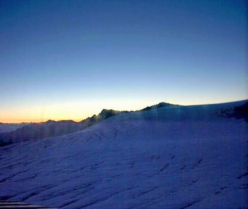 Sunrise from Rifugio Casati...