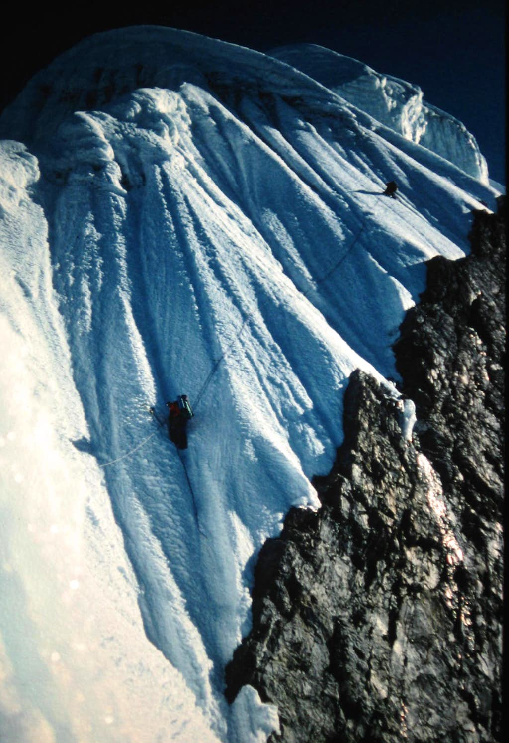 Andrew Brash on the Southwest Ridge