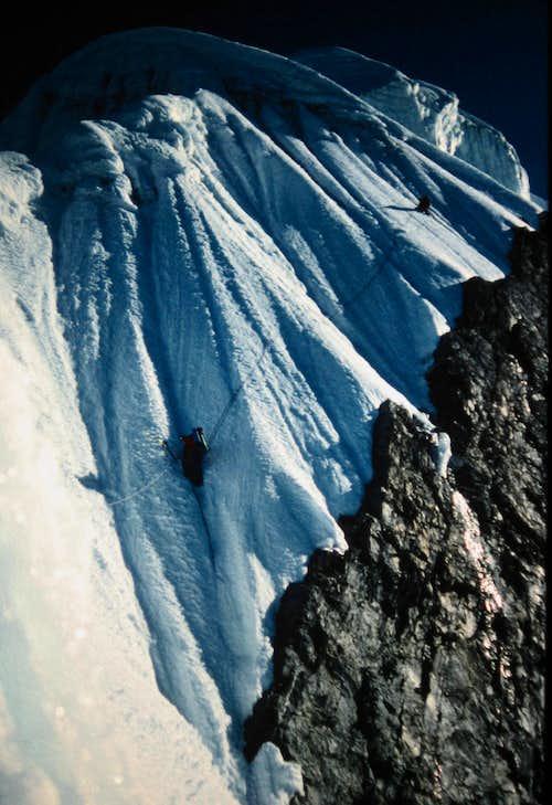 Andrew Brash on the Southwest Ridge