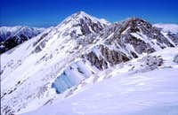 The ridge from Monte Altare...