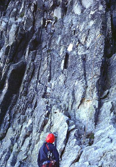 First pitch on the West Face...