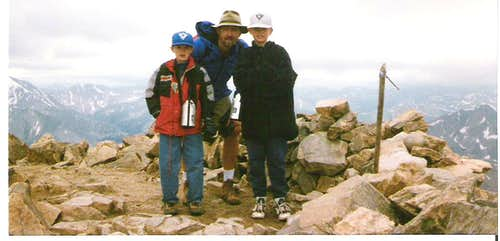 Foutz boys on Mt. Elbert