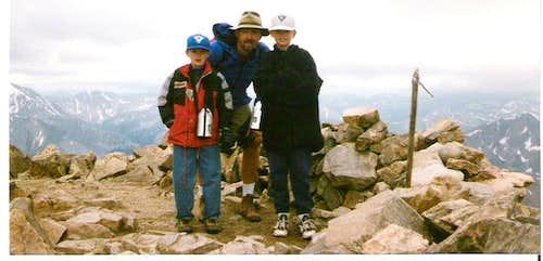 Foutz boys on Mt. Elbert