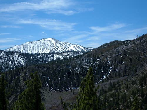 Slide Mountain still snowy in early May