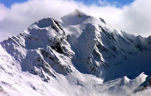 La parete nord del Monte Paramont (3301 m)