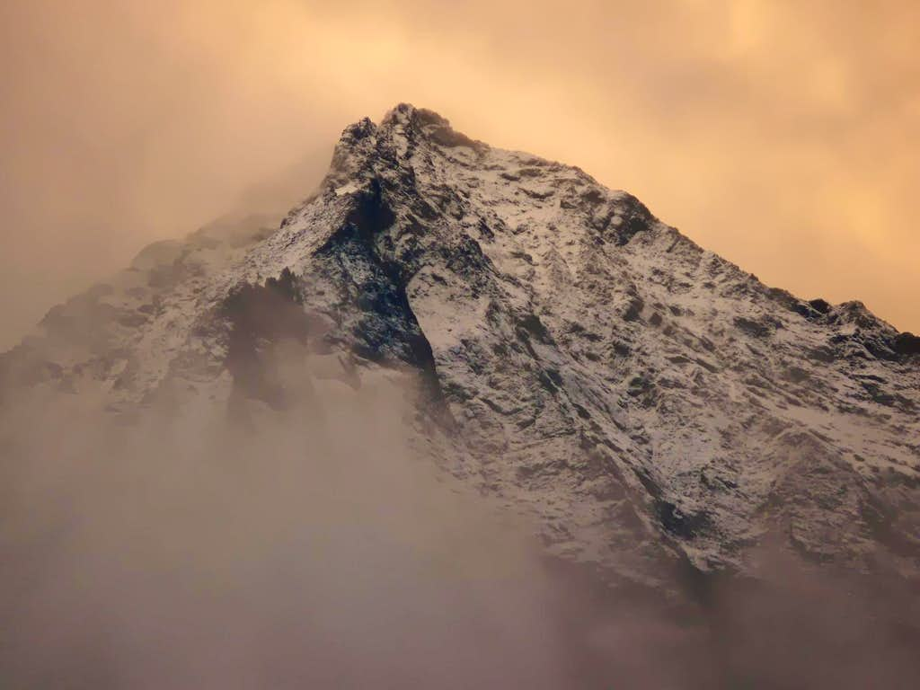 Storm on Becca di Nona (3142 m)