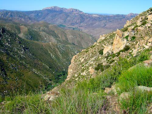 El Cajon Mountain from East Ridge of Eagle Peak