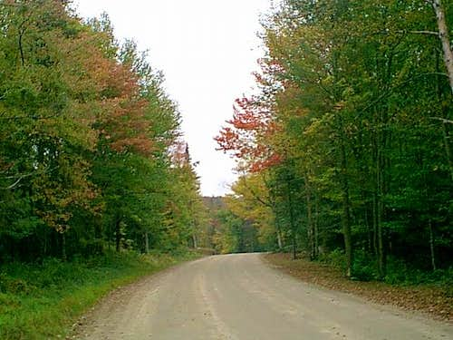 The road in to the trail head...