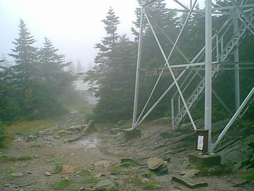 Stratton Mt summit - socked in