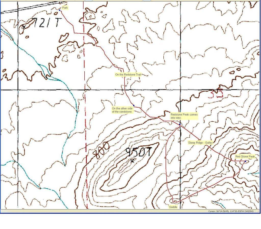 Route for Redstone Peak