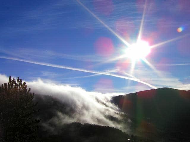 Isolated fog or cloud...