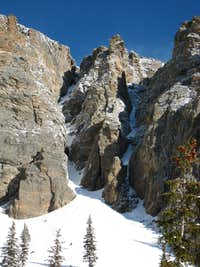 South Side Couloirs on Otis Peak