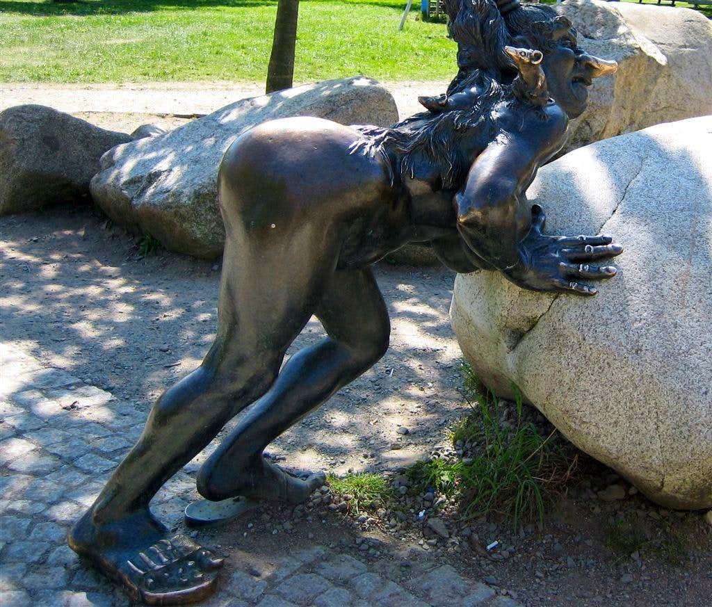 A witch on the Hexentanzplatz