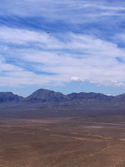 Devil Peak seen with a Glider
