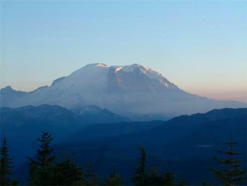 Sunset on Mt Rainier, as seen...
