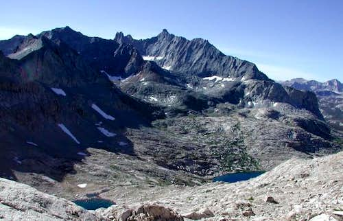 Nine Lakes Basin (foreground)...