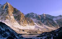 Sunset along Akshayuk Pass
