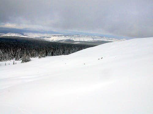 View towards Hoop Lake Fork