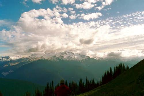 Glacier Peak in clouds. July...