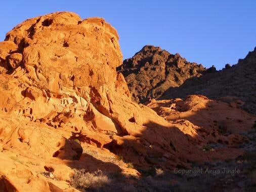 Redstone at sunset