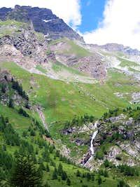 Cascata di montagna