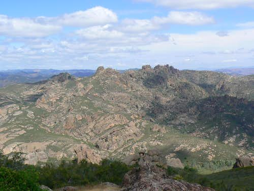 The Pinnacles Range from N Chalone