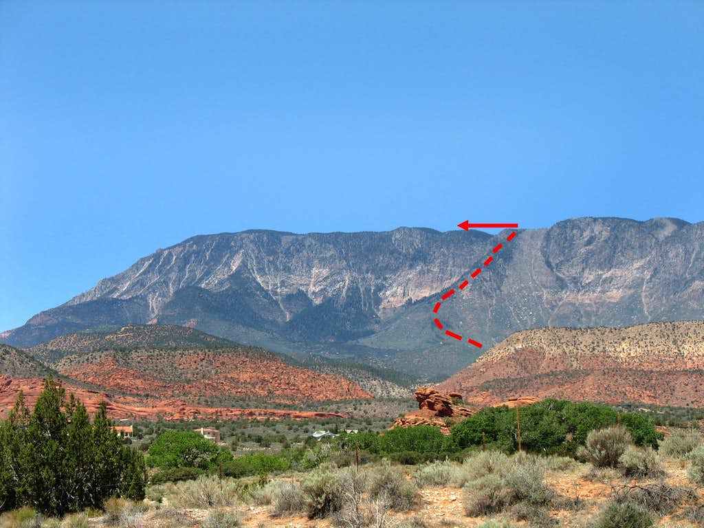 Approximate Trail to Crest