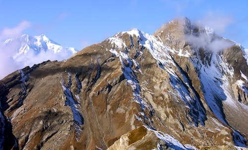 La Grande Rochère (3326 m), vista dalla Testa Serena