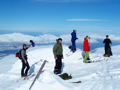 Tromsdalstind summit shot