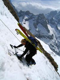 Skiing in the Ecrins