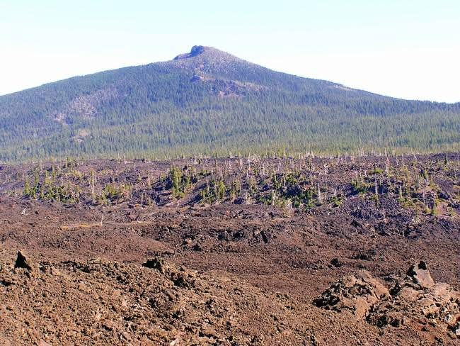 Black Crater above the lava...