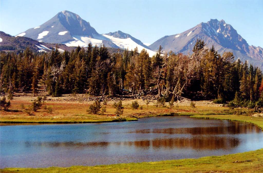 Middle and North Sister from Golden Lake