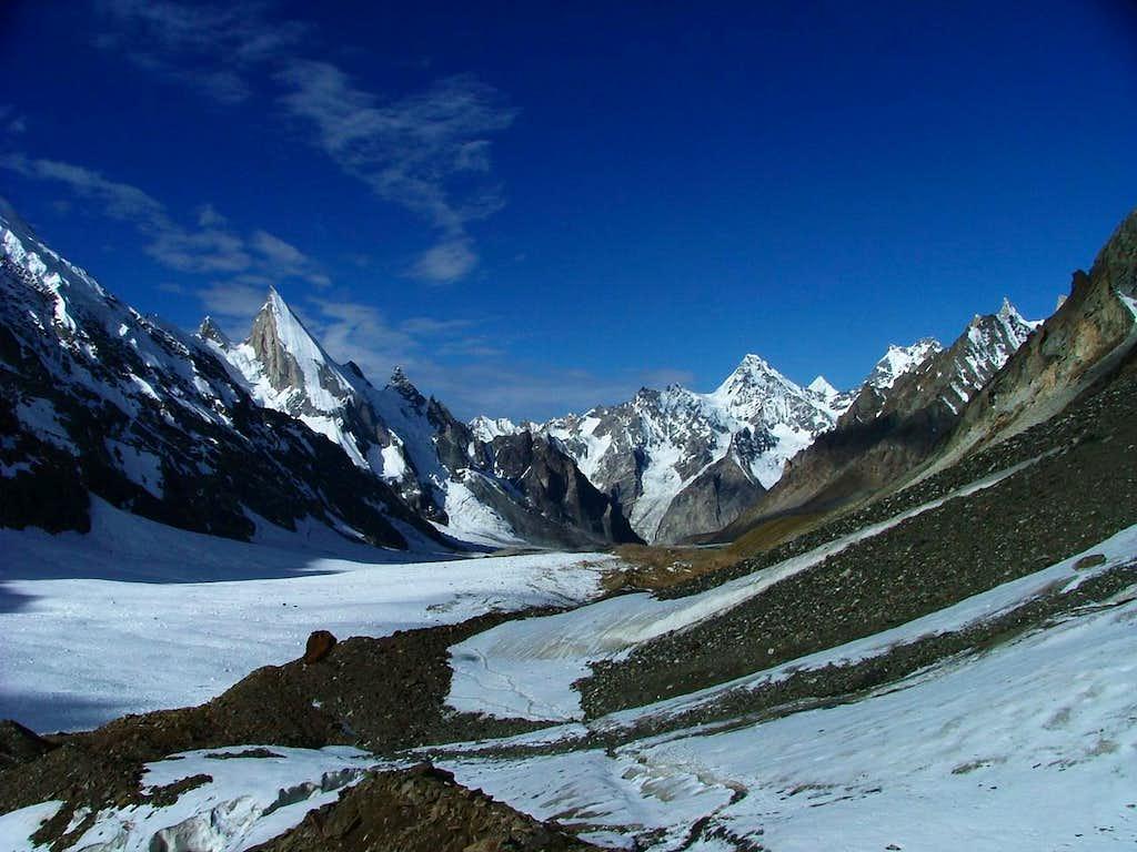 Laila Peak from top of Gondogoro la