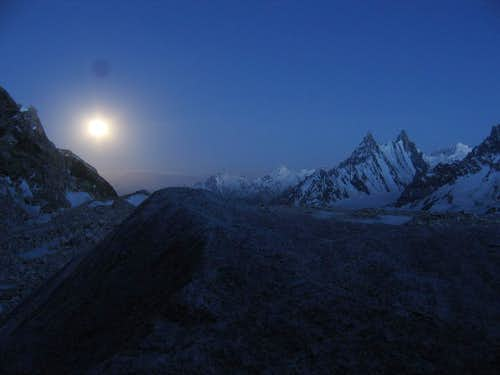 Biafo Glacier UnderMoon Light
