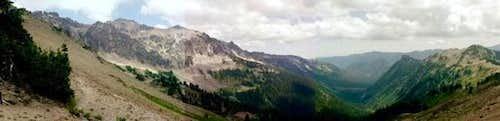 Panoramic view of Goat Rocks...