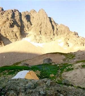 Campsite underneath the Goat...