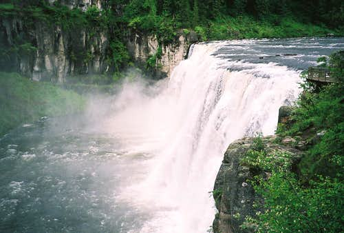 Upper Mesa Falls-Henry\'s Fork of the Snake-Idaho