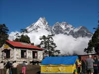 Morning At Tengboche Monastery, Looking West