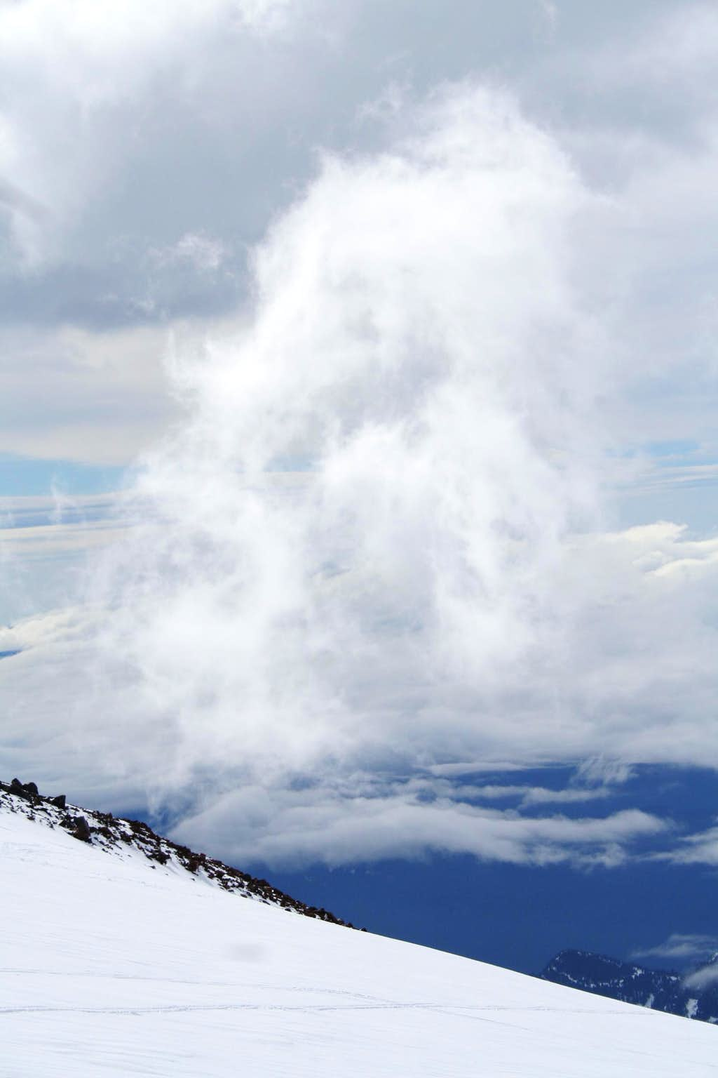 Clouds on Rainier