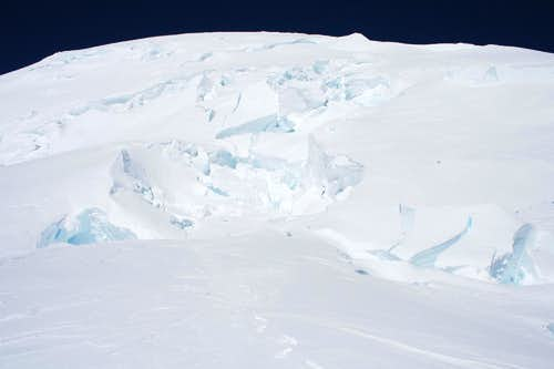 Crevasses on Ingraham Glacier
