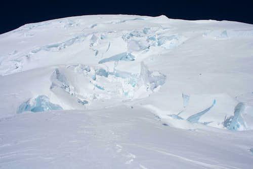 Crevasses on Ingraham Glacier
