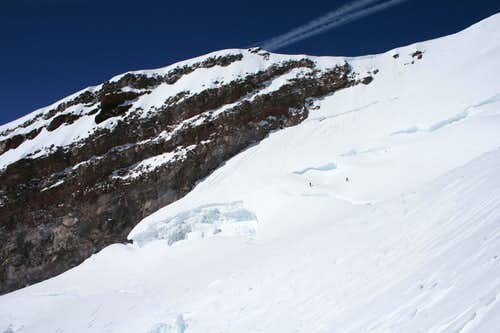 Climbers descending Ingraham Glacier