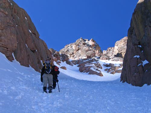 Y Couloir split